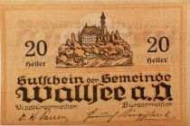 Austria 20 Heller, Wallsee - notgeld 1920 - aUNC