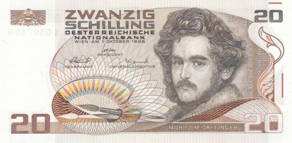 Austria 20 Schilling Moritz Daffinger - 1986