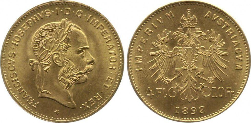 Austria 4 Florins Franz Joseph I - Eagle - 1892