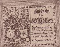 Austria 50 Heller - Arbing- 1920