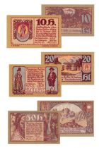 Austria Set of 3 banknotes from Austria - 1921