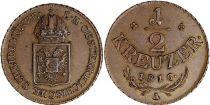 Autriche 1/2 Kreuzer Armoiries - 1816 A