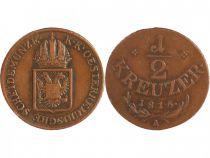 Autriche 1/2 Kreuzer François II - Armoiries