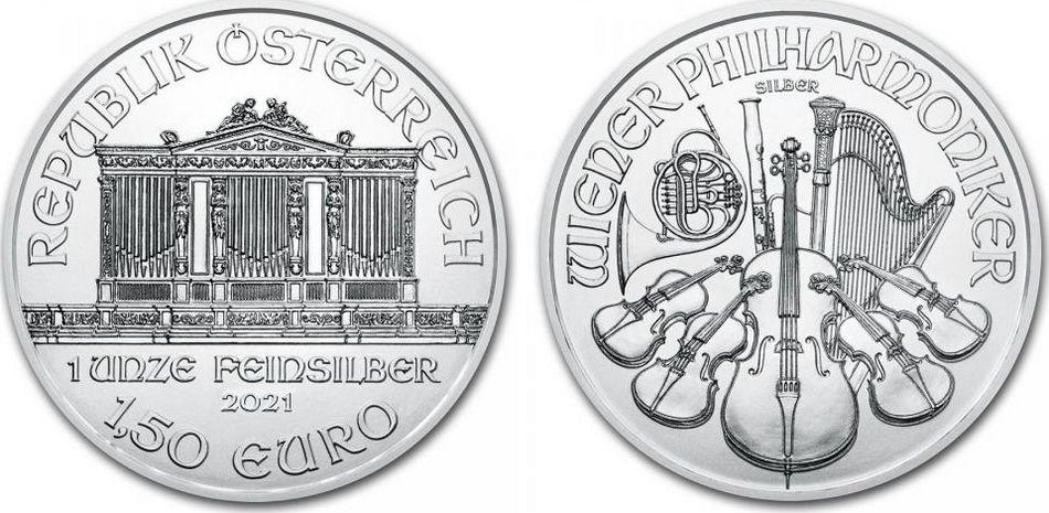 Autriche 1,50 Euro Once Argent Orchestre Philharmonique - 2021 - Once Argent