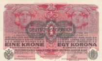 Autriche 1 Krone 1916 -  Têtes de femmes - Surcharge noire