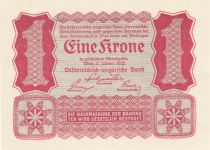 Autriche 1 Krone Rouge uniface - 1922
