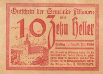 Autriche 10 Heller - Alkoven - 1920