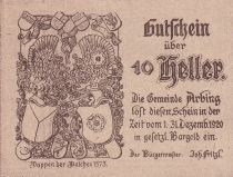 Autriche 10 Heller - Arbing- 1920