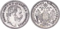 Autriche 10 Kreuzer, Francois joseph  I - Armoiries - 1872 A
