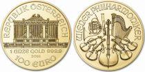 Autriche 100 Euro Once Or Orchestre Philharmonique - 2018