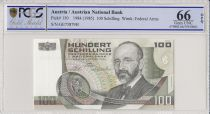 Autriche 100 Schilling Eugen Bohm-Bawerk - 1984 - PCGS 66 OPQ