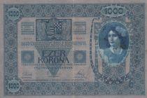 Autriche 1000 Kronen 1902 - Armoiries Autriche-Hongrie - TB+