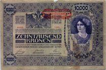 Autriche 10000 Kronen Femme, surcharge Deustschosterreich - 1902 (1919)