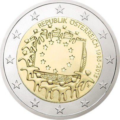 Autriche 2 Euro, 30 ans Drapeau Européen - 2015