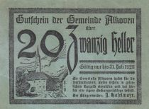 Autriche 20 Heller - Alkoven - 1920