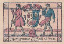 Autriche 20 Heller - Aschach a/d Donau - 1920