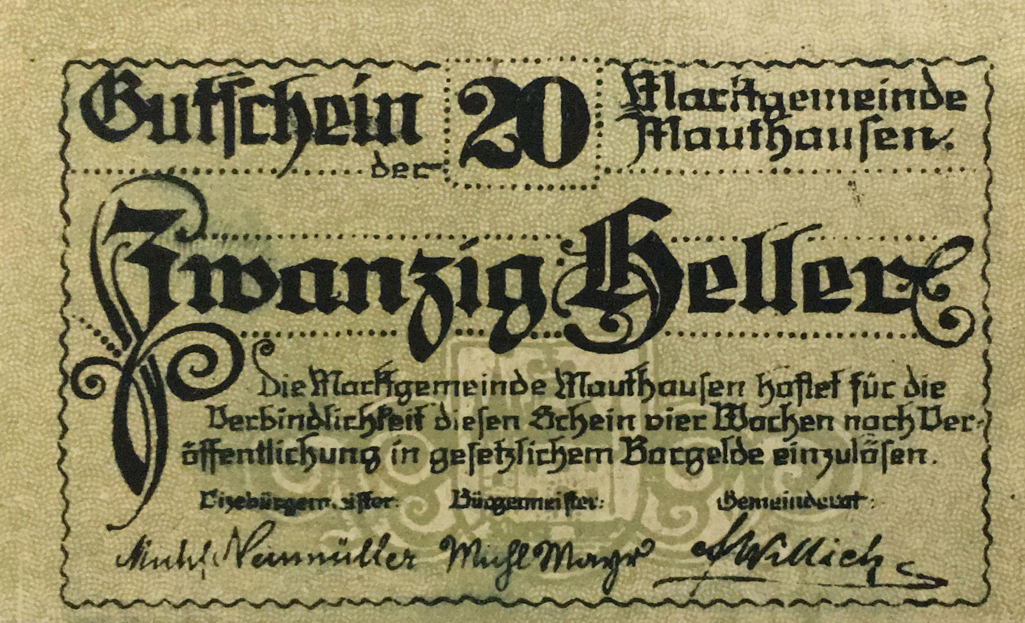 Autriche 20 Heller, Mauthausen - notgeld - NEUF