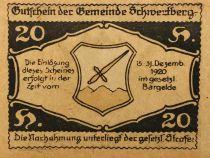 Autriche 20 Heller, Schwertberg - notgeld 1920 - P.NEUF