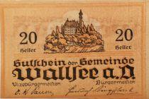 Autriche 20 Heller, Wallsee - notgeld 1920 - P.NEUF
