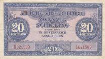 Autriche 20 Schillings - Rose et bleu- 1944