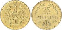 Autriche 25 Schilling Aigle - 1929  - Or