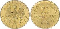 Autriche 25 Schilling Aigle - 1931 - Or