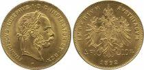 Autriche 4 Florins François Joseph I - Aigle 10 Francs Or - 1892