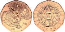 Autriche 5 Euro, Jeune Lièvre de Durer - 2016