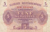 Autriche 5 Schillings - Rose et violet - 1944