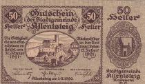 Autriche 50 Heller - Allentsteig- 1920