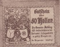 Autriche 50 Heller - Arbing- 1920