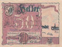 Autriche 50 Heller - Aschach a/d Donau - 1920