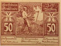 Autriche 50 Heller, Zell Arzberg - notgeld 1920 - P.NEUF