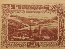 Autriche 50 Heller, Zwettl - notgeld 1920 - P.NEUF