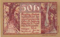 Autriche 50 Heller 1921 - Montagne - Ville de Lofer