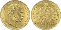 Autriche 8 Florins François Joseph I - Aigle 20 Francs Or - 1892