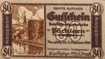 Autriche 80 Heller, Pöchlarn - notgeld 1920 - P.NEUF