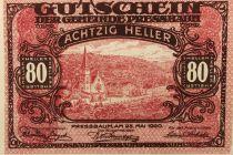 Autriche 80 Heller, Pressbaum - notgeld 1920 - P.NEUF