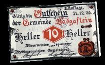 """Autriche NOTGELD \""""au hasard\"""" 1 ex"""
