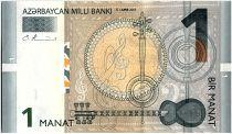 Azerbaidjan 1 Manat,  Instruments - Carte - 2005 - P.24
