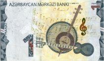 Azerbaidjan 1 Manat - Music Instruments, Map - 2020 - UNC