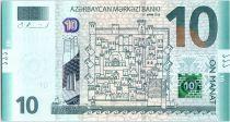 Azerbaidjan 10 Manat - Plan d\'une ville ancienne - 2018 (2019) - Neuf