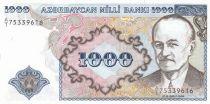 Azerbaidjan 1000 Manat M.E. Resulzado - 1993 - P.20a - UNC - Serial A.1