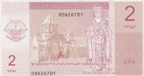 Azerbaidjan 2 Drahms - Nagorno Karabakh - 2004 - Jesus Christ - UNC - P.1