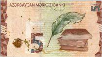 Azerbaidjan 5 Manat - Book, statue, map - 2020 - UNC