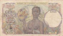 B A O 100 Francs 1943 - Femme avec fruits, famille - Série B.9500