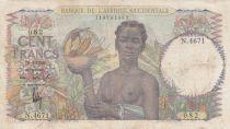 B A O 100 Francs 1948 - Femme avec fruits, famille - Série N.4671