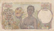 B A O 100 Francs 1948 - Femme avec fruits, famille - Série P.3581