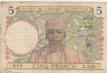 B A O 5 Francs 1934 - Homme, tisserand - Série L.218