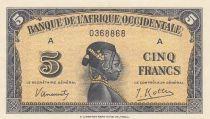 B A O 5 Francs Africaine - 1942 Série A